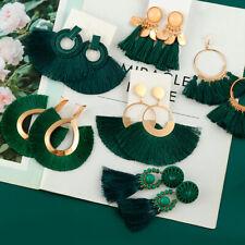 Earrings Hook Long Fringe Chunky Boho Women Dangle Tassel Bohemian Drop Jewelry