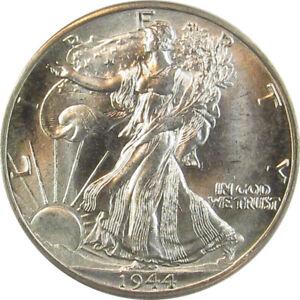 1944 D WALKING LIBERTY HALF DOLLAR-ANACS MS65 NICELY STRUCK COIN