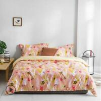 3D Yellow Pink Leaves Sloth KEP2791 Bed Pillowcases Quilt Duvet Cover Kay