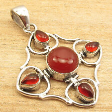 Free Shipping on Additional Items! Silver Plated Genuine Carnelian Pendant ART