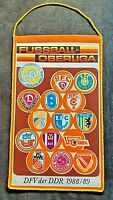 Orig. Wimpel DDR Oberliga 1988/89 Fussball Jahreswimpel BFC Dynamo FCM Hansa FCH
