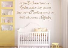 Golden Slumbers, The Beatles, Lyrics wall art vinyl decal sticker