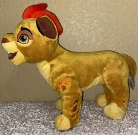 "The Lion Guard Kion Plush Toy 14"" Simba's Red Mohawk Disney Authentic"