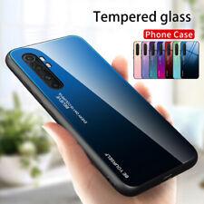 For Xiaomi Mi Note 10 Lite Redmi Note 9 Pro Gradient Tempered Glass Case Cover