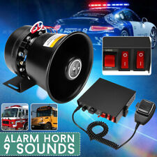 400W 12V Pro 9 Sound Loud Car Warning Alarm Police Fire Horn Speaker System Mic
