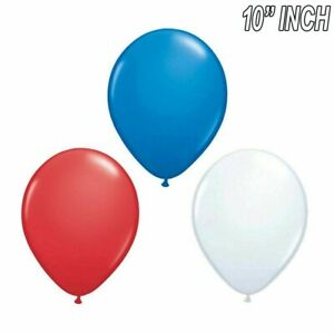 Red White Blue Mix Latex Ballons VE Day Street Party Royal UK Flag Patriotic