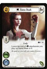 Sansa Stark U 10 NM A Game Of Thrones AGOT CCG TCG Iron Throne Edition