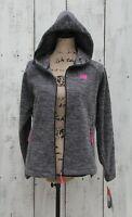NEW BALANCE Women's Petite Sz PL NEW Gray Zip Up Hoodie Fleece Jacket