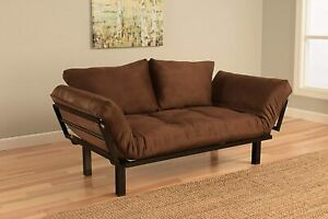 Bright Day Twin Size Bed Futon Metal Frame, Many Colors To Choose (Chocolate)