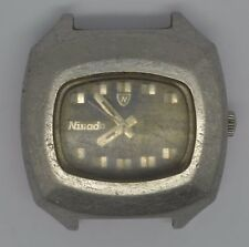 Vintage NIVADA St Steel Watch. Ref: 68012, Cal: 2789. For Repairs