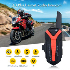 BOBLOV X3plus Bluetooth Helm Radio 3KM Motorrad Intercom Walkie Talkie PTT BT