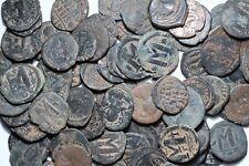 Lot Of Byzantine Large Bronze Follis Coins - One Bid Five Coins