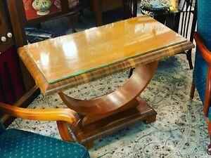 1930s X Large Art Deco Movement U Hoop Table