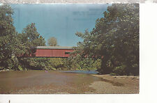 Cox Ford Covered Bridge   Parke County  IN   Chrome Postcard 247