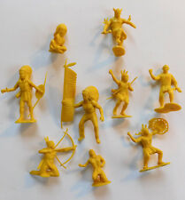 Marx Fort Apache Yellow Indians Lot Toy Figures