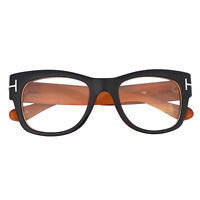 Oversized Square Thick Horn Rimmed Inspired Retro Frame Clear Lens Eye Glasses