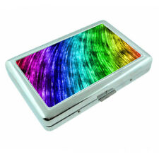 Electric Rainbow Em4 Silver Metal Cigarette Case RFID Protection Wallet