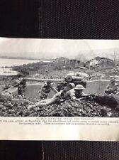 m9-7 Ephemera 1940s Ww2 Picture Pantellaria Sicily Troops Land