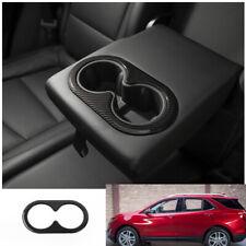 FOR Chevrolet Equinox 2018-2020 carbon fiber Interior rear Water cup cover trim