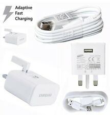 Wall Adaptive Fast Charger Plug +  USB Cable For Samsung Galaxy S6 S7 Note 4 5 7