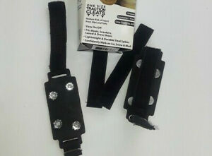 New Ice Cleats for Boots or Shoes No-Slip Grip One Size Traction Spiked Snow