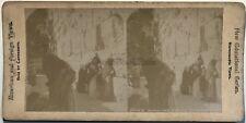 Jerusalem Mur des Lamentations Juifs Israël Photographie Stereo Vintage Albumine