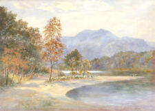 Medium (up to 36in.) Brown Art Landscape Paintings
