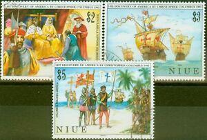 Niue 1992 Columbus set of 3 SG731-733 V.F.U