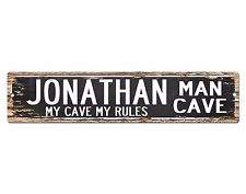 SPMC0055 JONATHAN MAN CAVE Rules Street Chic Sign Home man cave Decor Gift