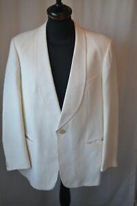 Vintage Simpson Piccadilly cream tuxedo dinner jacket size 40 medium dandy gent