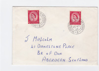 north east'n t.p.o. nt. down  1965 royal mail by  rail  stamps cover ref r14726