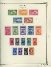 COSTA RICA Scott Specialty Album Page Lot #14 - SEE SCAN - $$$
