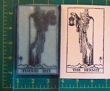 UM Tarot Card rubber stamp #9 The Hermit full size