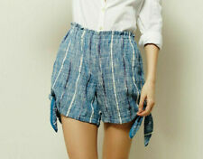 Free People Blue Bonnet Shorts High Waited Striped Printed Summer M New 206233