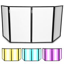 More details for scrim white foldable disco dj lighting screen 4 panel facade deck stand booth