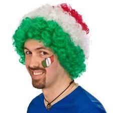 Parrucca Italia Riccia tricolore verde bianco rossa