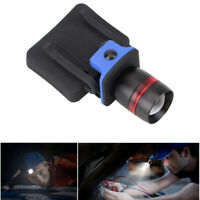 LED Clip-on Cap Hat Head Light Torch Camping Hiking Fishing Outdoor Headlamp K