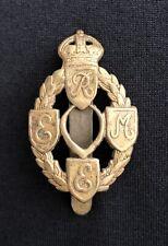 WW2 Royal Electrical & Mechanical Engineers x 100% Original Cap Badge