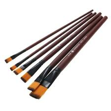 6 x Art Paint Brush Set for Watercolor,Acrylics,Oil and Face Painting