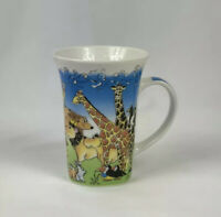 Paul Cardew Noah's Ark Animals Tall Coffee Mug Tea Cup 2008 Lion Bear Zebra Mice