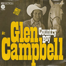 """GLEN CAMPBELL Country Boy PICTURE SLEEVE 7"""" 45 record + juke box strip NEW RARE!"""