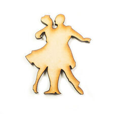 MDF Wood Wooden Shape Shapes Dancing Couple Cutout Sign Craft Home Room Decor