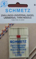 Schmetz Zwillingsnadel 130-705H  ZWI 2 mm Stärke 80/12