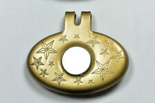 1 Gold Stainless Steel Magnetic Golf Ball Marker Hat Clip  strong magnet.