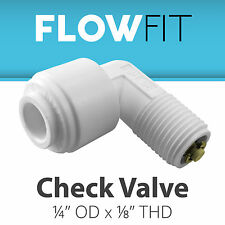"""Male Elbow Check Valve 1/4"""" x 1/8"""" Fitting Connection Water Filters / RO Sy"""