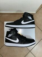 Nike Air Jordan 1 Mid Black and White. Size 41-US W9.5. DSWT. Nuove con scatolo.