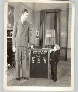 Größte & Kürzesten Mann,Andy & Jack Side Show Geheimnisvoll Vtg. 1930s