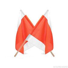 2x Winterdienst Warnflagge Schneeschild Fahne Absicherung Multicar Schiebeschild