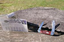 CASE XX 2000 RED CANOE KNIFE W.E.B. DU BOIS POSTCARD DOUBLE SHIELD 1/55 62131CV