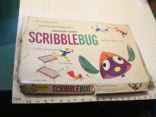 vintage SCRIBBLE BUG eberhard faber toy in box, RARE but not compelte